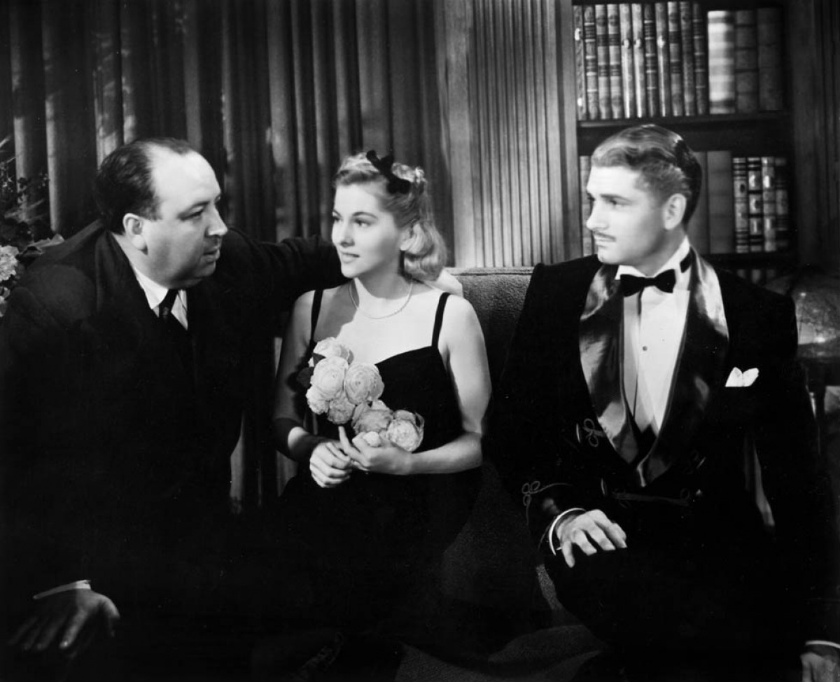 Hitchcock with cast members