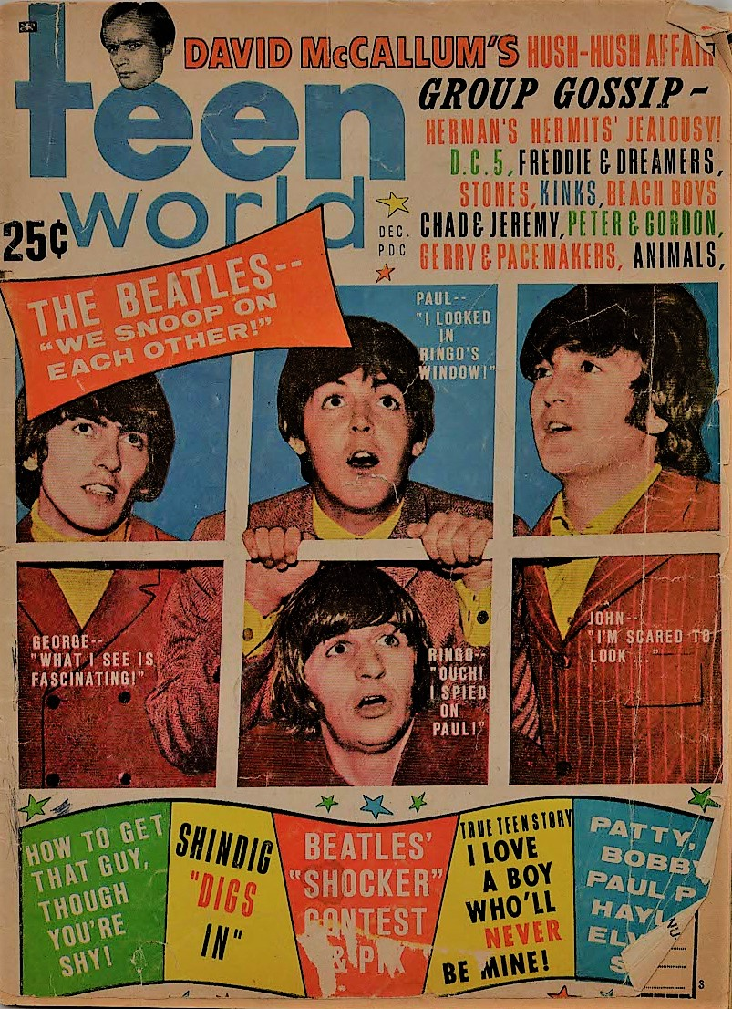 Flashback to Beatles in Teen World